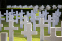 NETTUNO - April 06: Tombs, American war cemetery of the American Stock Image