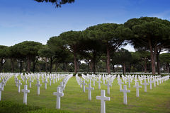 NETTUNO - April 06: Tombs, American war cemetery of the American Royalty Free Stock Photo