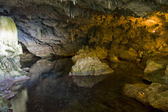 Nettuno caves. ( Grotte di Nettuno ). This place is located in sardinia, near to Alghero, Italy Royalty Free Stock Image