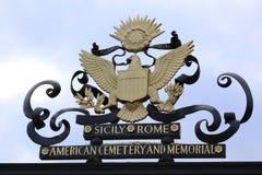 NETTUNO - Kwiecień 06: Amerykański symbol na głównym wejściu Amer Fotografia Royalty Free
