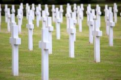 NETTUNO - Kwiecień 06: Grobowowie, Amerykański wojenny cmentarz amerykanin Fotografia Royalty Free