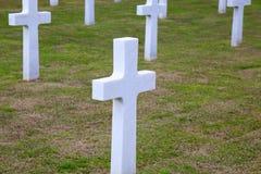 NETTUNO - Kwiecień 06: Grobowowie, Amerykański wojenny cmentarz amerykanin Fotografia Stock