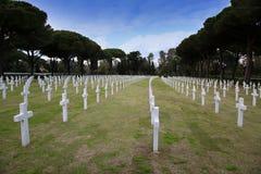 NETTUNO - Kwiecień 06: Grobowowie, Amerykański wojenny cmentarz amerykanin Obrazy Royalty Free