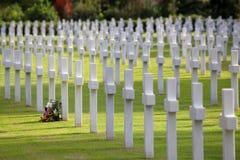 NETTUNO - Kwiecień 06: Grobowowie, Amerykański wojenny cmentarz amerykanin Obrazy Stock