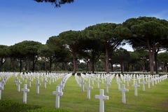 NETTUNO - Kwiecień 06: Grobowowie, Amerykański wojenny cmentarz amerykanin Zdjęcie Royalty Free