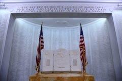 NETTUNO - Kwiecień 06: Imiona spadać żołnierze przy wojną, Ameryka Obrazy Stock