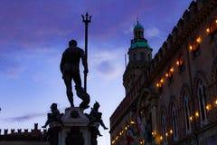Nettuno in Piazza Maggiore - Bologna royalty-vrije stock foto