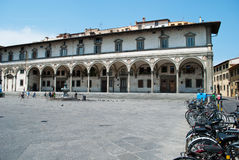 Nettuno square in Florence. The beautiful Florence on a summer day stock photos