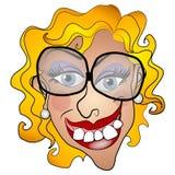 netty微笑的丑恶的妇女年轻人 皇族释放例证