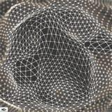 Netwerk abstracte achtergrond 3d technologie vectorillustratie Stock Afbeeldingen