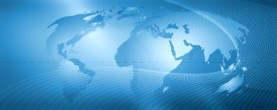 Netwerk, blauwe achtergrond Royalty-vrije Stock Afbeelding