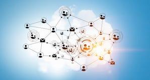 Netwerk communautair concept Gemengde media Royalty-vrije Stock Afbeeldingen
