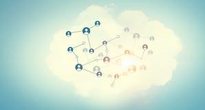 Netwerk communautair concept Gemengde media Stock Fotografie