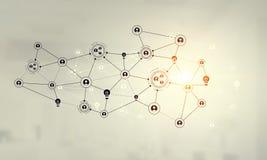 Netwerk communautair concept Gemengde media Royalty-vrije Stock Fotografie