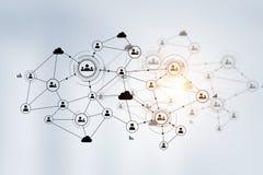 Netwerk communautair concept Gemengde media Royalty-vrije Stock Foto's