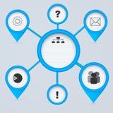 Netwerk 3d cirkels. Stock Fotografie