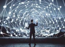 Netwerk en communicatie concept Royalty-vrije Stock Foto's