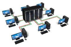 Netwerk en Internet communicatie concept Stock Afbeeldingen