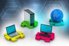 Netwerk en Internet communicatie concept Stock Foto's