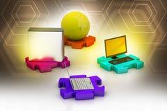 Netwerk en Internet communicatie concept Royalty-vrije Stock Afbeelding