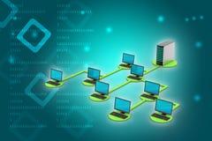 Netwerk en Internet communicatie concept Royalty-vrije Stock Foto