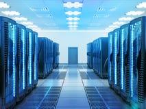 Netwerk en Internet-communicatietechnologieconcept Stock Afbeelding