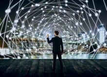 Netwerk en technologieconcept Stock Foto