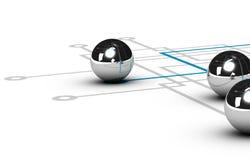Netwerk, het Concept van het Voorzien van een netwerk royalty-vrije illustratie