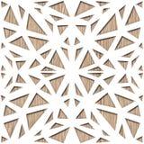 Netwerk het opleveren ornament - Abstract het met panelen bekleden patroon stock illustratie