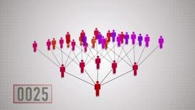 Netwerk marketing, verdubbelingsprincipe stock footage
