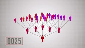 Netwerk marketing, verdubbelingsprincipe royalty-vrije illustratie