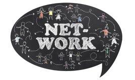 Netwerk met het Knippen van Weg Royalty-vrije Stock Foto's