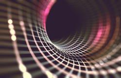 Netwerk of netto met lijnen en van geometricsvormen detail 3d illustrat Stock Fotografie