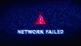 Netwerk Ontbroken de Krampglitch van het Tekst Digitale Lawaai Vervormingseffect Foutenanimatie stock video