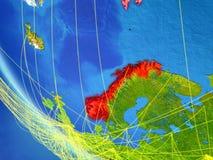 Netwerk rond Noorwegen van ruimte royalty-vrije illustratie