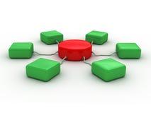 Netwerk (rood en groen) Royalty-vrije Stock Foto's