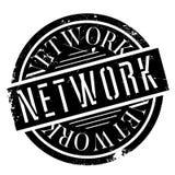 Netwerk rubberzegel royalty-vrije illustratie