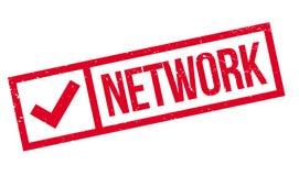 Netwerk rubberzegel stock illustratie