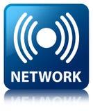 Netwerk (signaalpictogram) blauwe vierkante knoop Stock Afbeelding