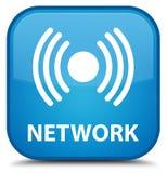 Netwerk (signaalpictogram) speciale cyaan blauwe vierkante knoop Royalty-vrije Stock Foto's