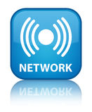 Netwerk (signaalpictogram) speciale cyaan blauwe vierkante knoop Stock Foto