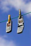 Netwerk van celtelefoons royalty-vrije stock afbeelding