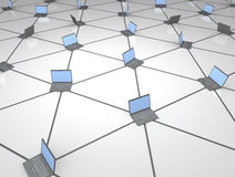 Netwerk van Computers Royalty-vrije Stock Afbeelding