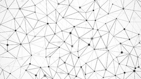 Netwerk van gegevensserie Knoopstructuur Moleculaire netwerktextuur Digitale futuristische abstracte achtergrond Vector Royalty-vrije Stock Afbeeldingen
