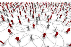Netwerk van Mensen Royalty-vrije Stock Afbeelding