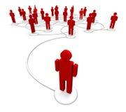 Netwerk van Mensen - Communicatie Links Royalty-vrije Stock Foto's