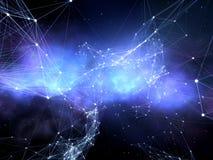 Netwerk van sterren. Stock Foto