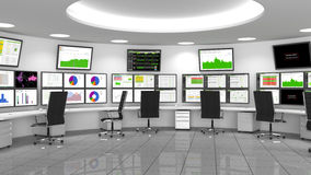 Netwerk/Veiligheidsverrichtingencentrum (NOC/Soc) Royalty-vrije Stock Fotografie