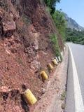 Netwerk voor bescherming tegen rockfall Stock Fotografie