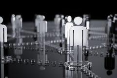 Netwerk, voorzien van een netwerk, verbinding, sociale netwerken, Internet, comm vector illustratie